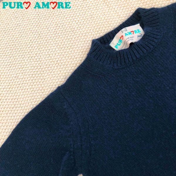 Maglioncino blu cashmere bambino