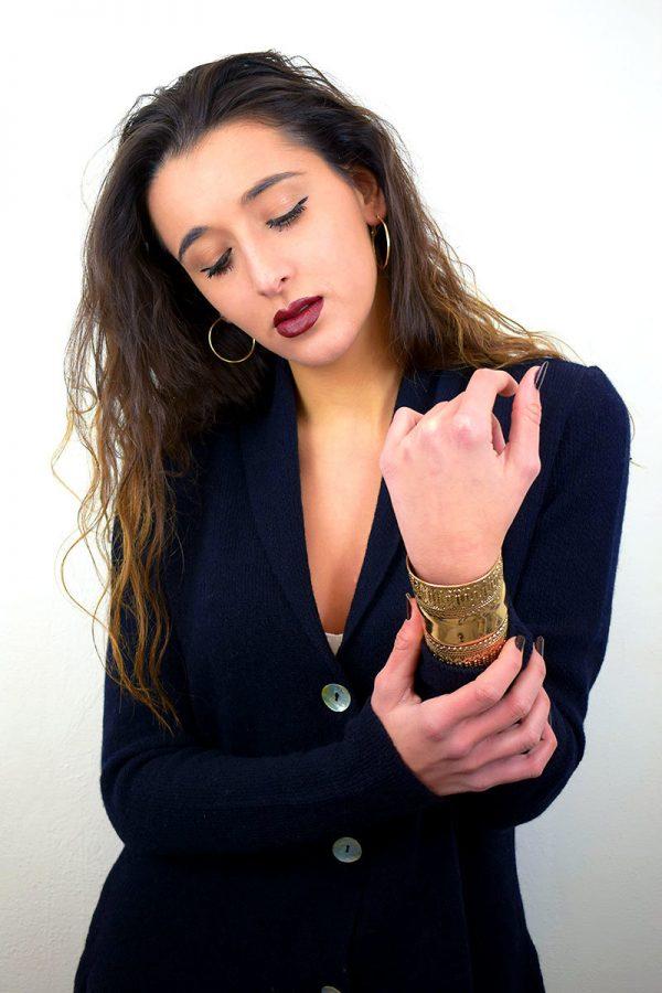 Giacca classica Donna in Cashmere Blu