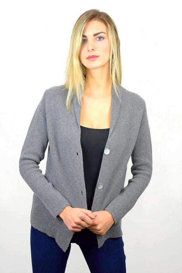 Giacca donna in Puro Cashmere - Grigio