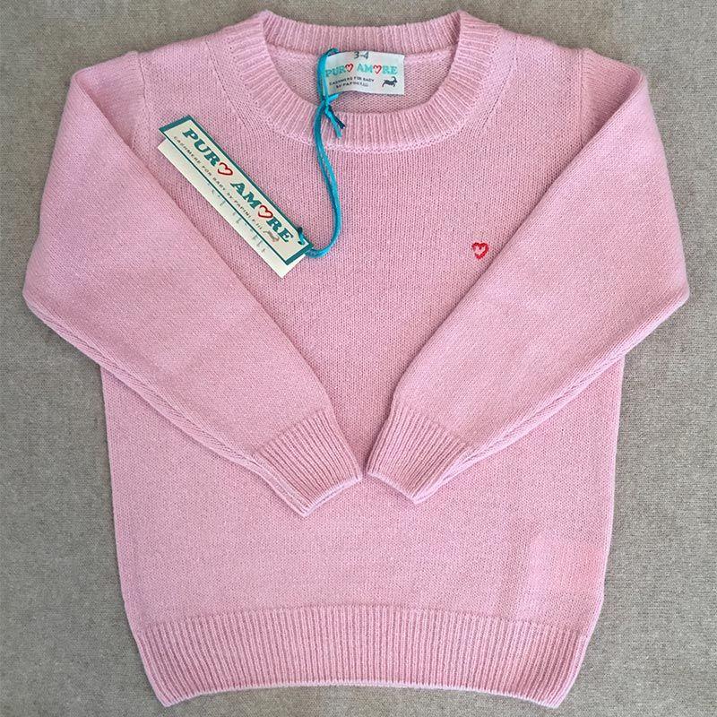 Maglioncino rosa cashmere bambino