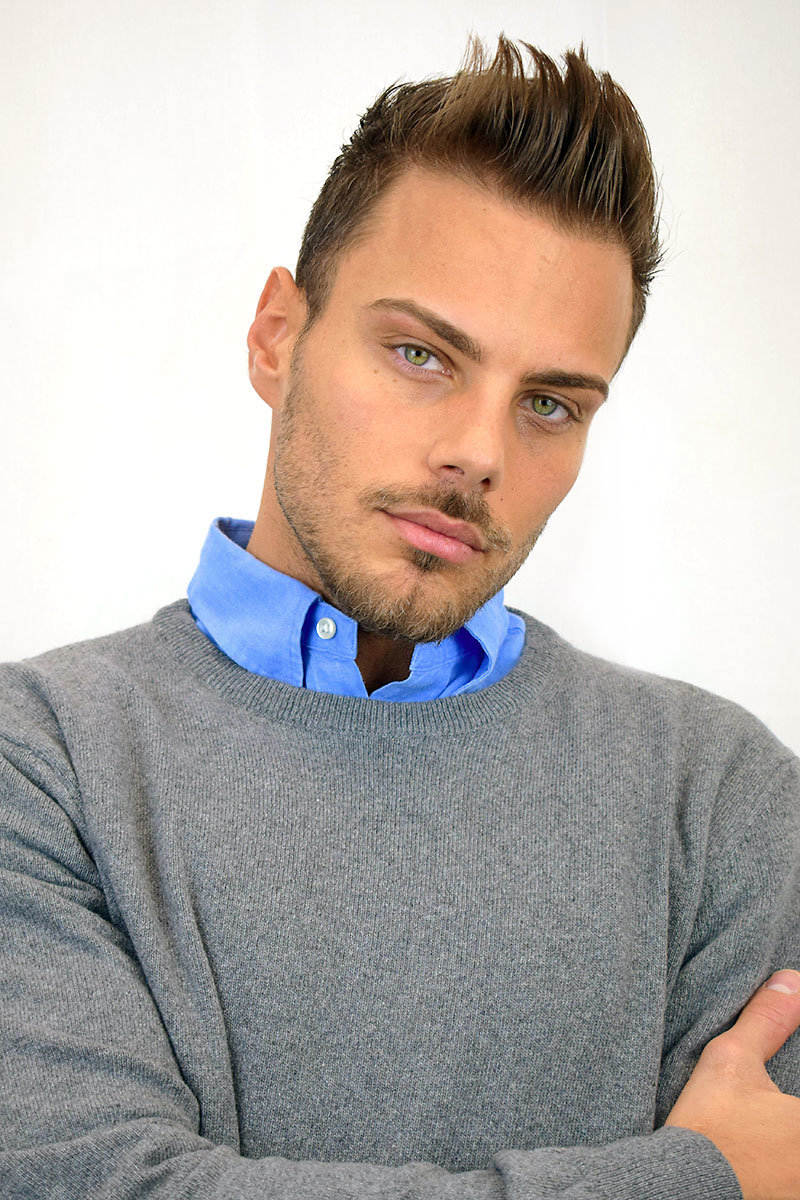 Maglione da uomo color grigio in Puro Cashmere