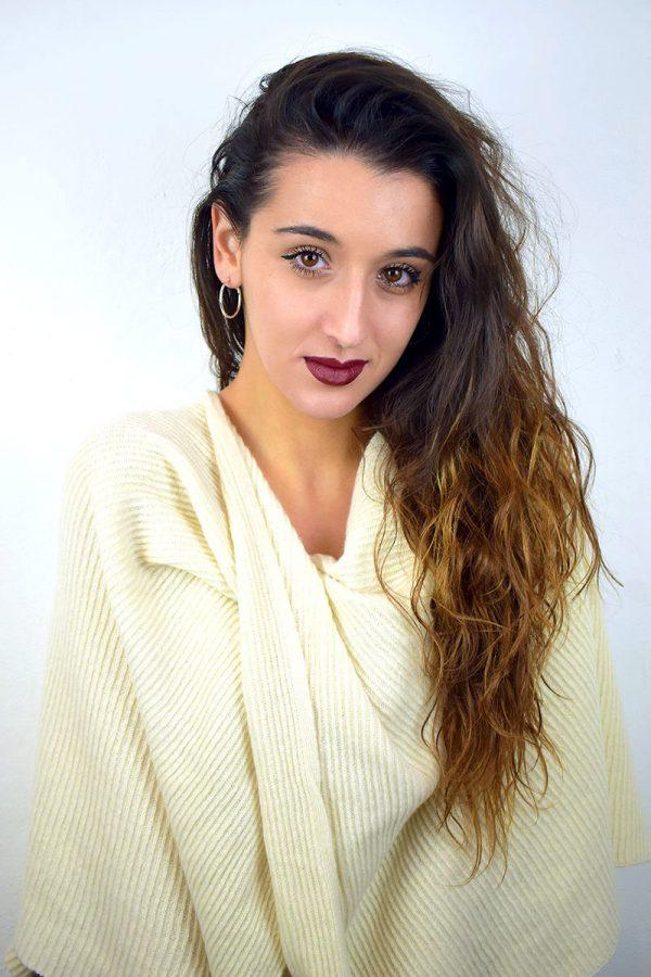 Poncho color panna in Puro Cashmere donna
