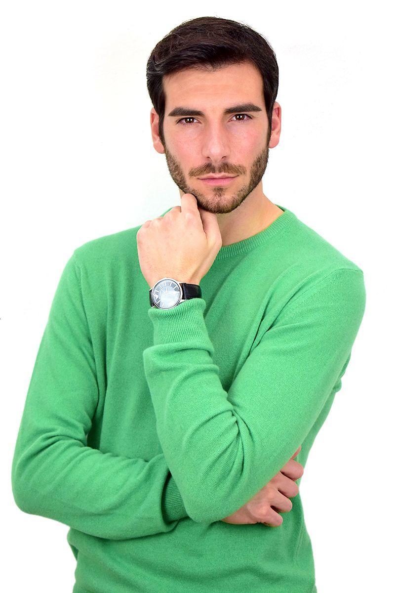 Maglioncino primaverile da Uomo in Cashmere - Verde