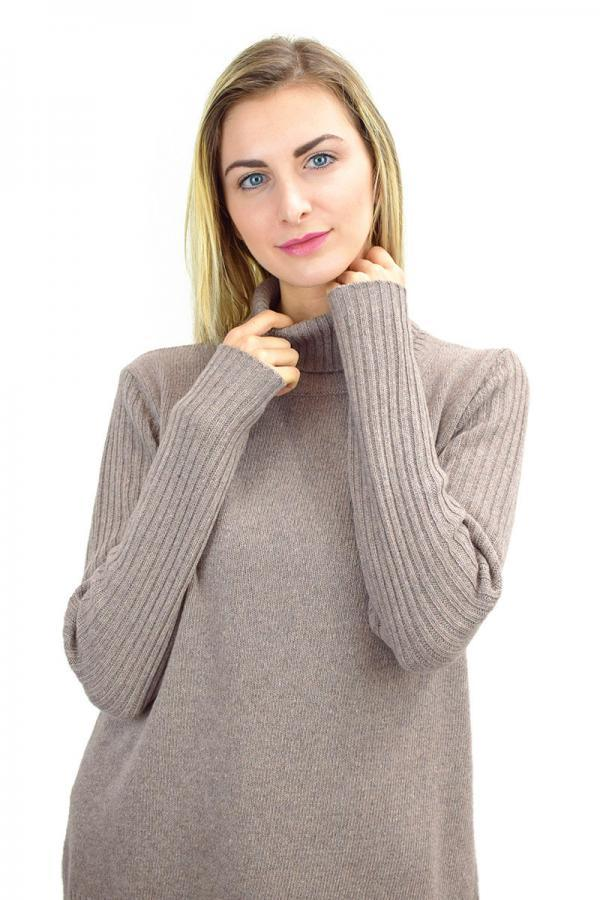 Maglione a collo alto donna in Puro Cashmere