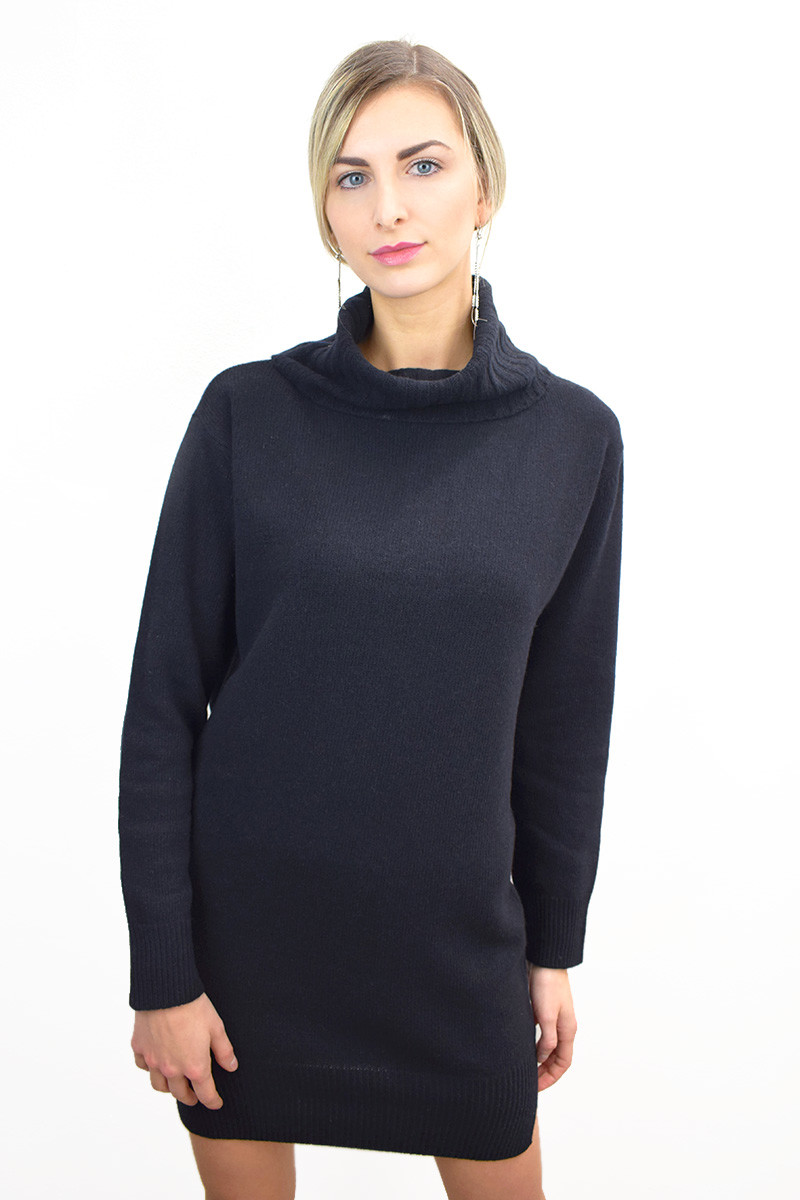 Vestito donna in Eco Cashmere - Nero