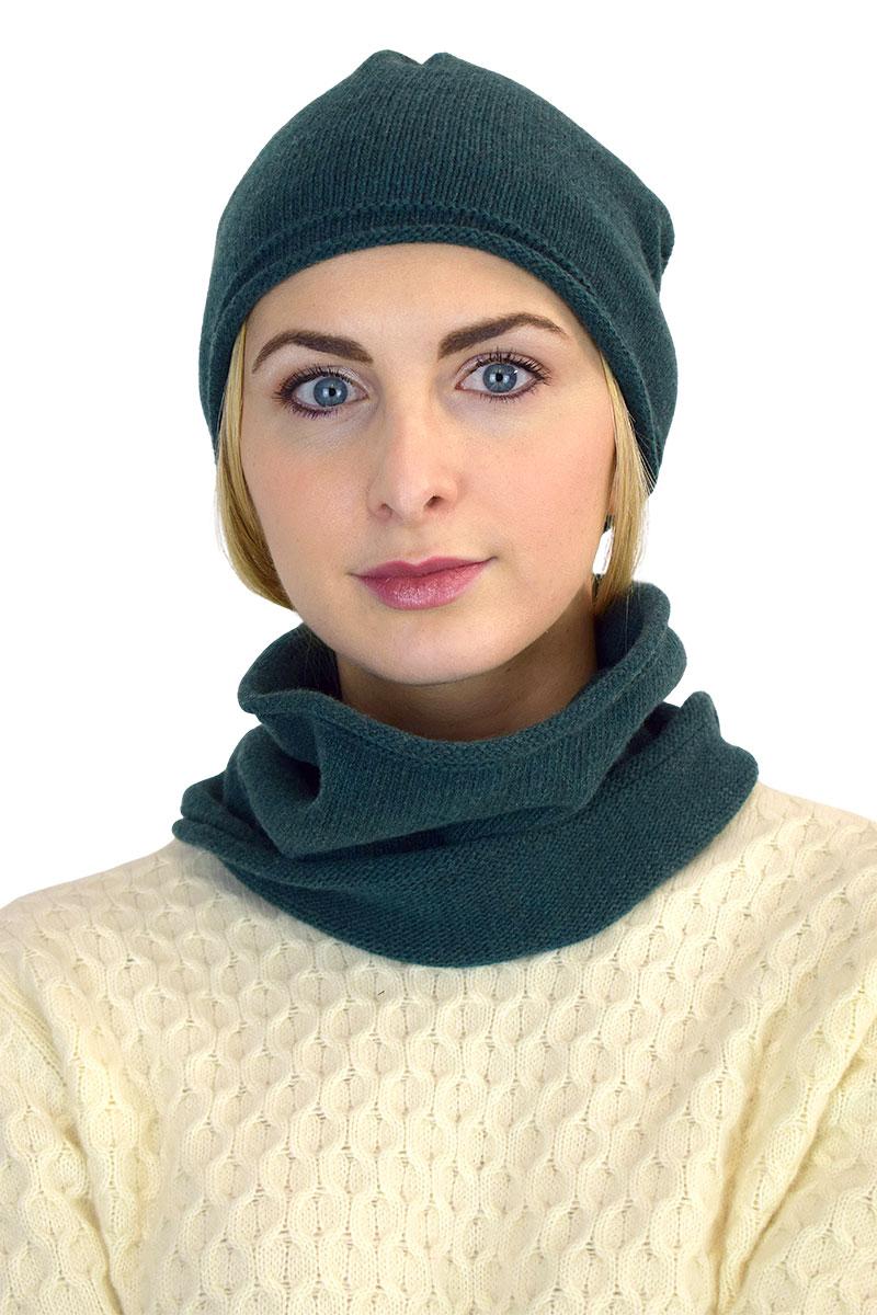 cappello scaldacollo unisex verde