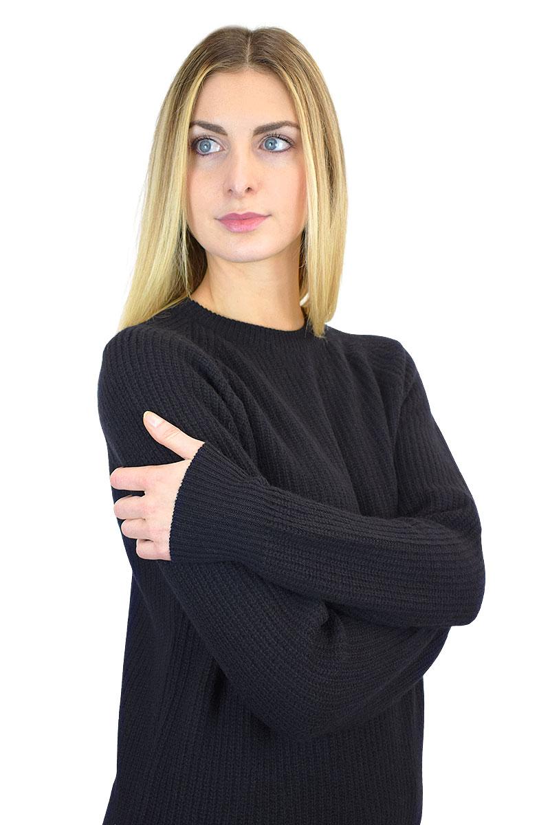 maglia inglese donna paricollo nero