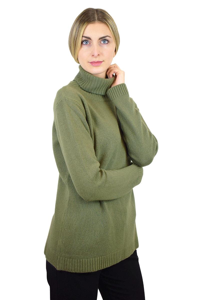 Maglione a collo alto - Verde