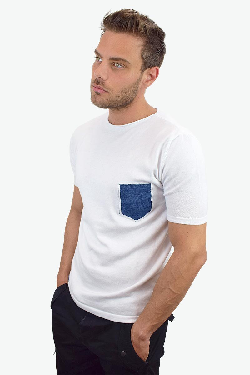 t-shirt bianca cotone bio da uomo2
