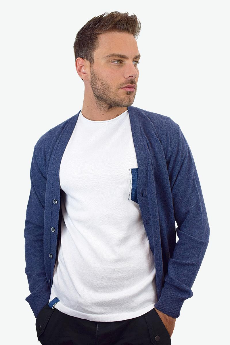 t-shirt bianca cotone bio da uomo