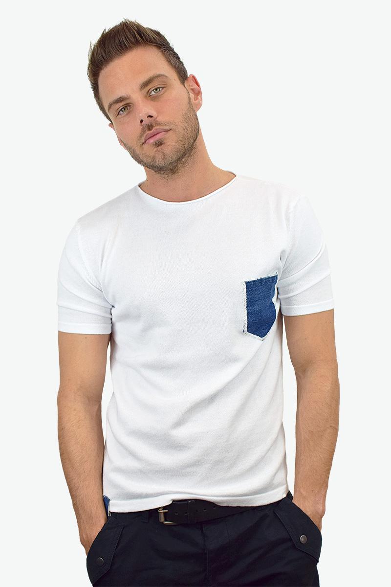 t-shirt bianca cotone bio da uomo3