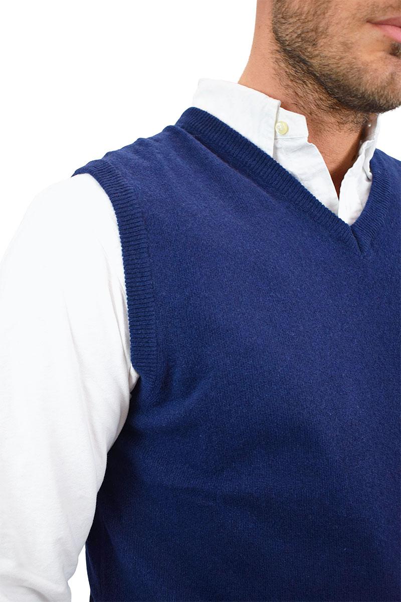 gilet blu in cashmere per uomo2
